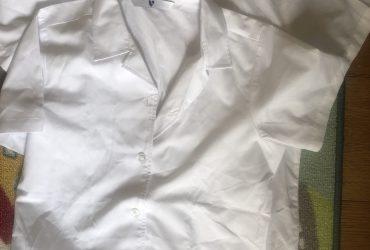 Girls shirtsleeve white blouse age 10
