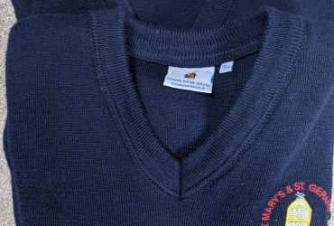 St. Mary's and St. Gerard's School Jumpers x 2 10-11 yrs