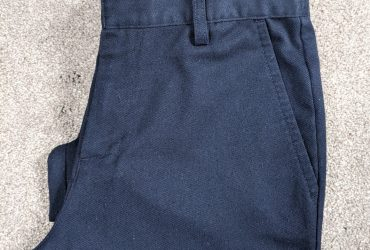Navy school trousers from Next (age 11 & 12)