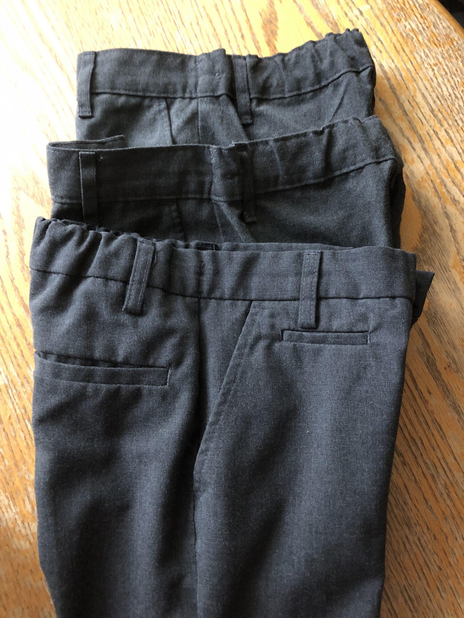 Grey M&S school trousers (6-7 & 7-8)